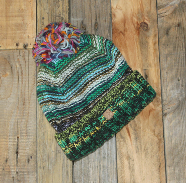 Multicolour Beanie - Bobble - 7