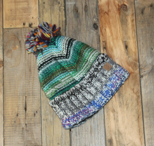 Multicolour Beanie - Bobble - 10