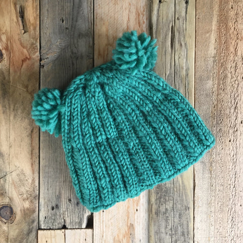 Double Bobble Beanie - Grass