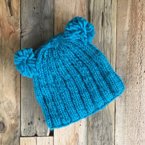 Double Bobble Beanie - Peacock
