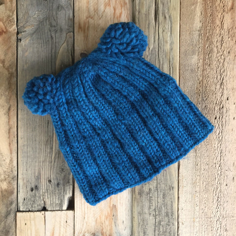 Double Bobble Beanie - Ocean