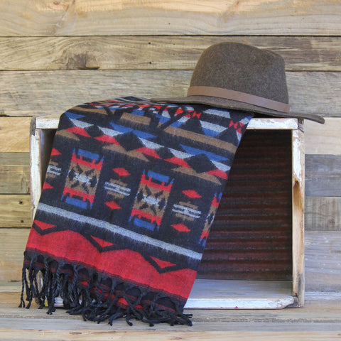 Black Aztec Shawl