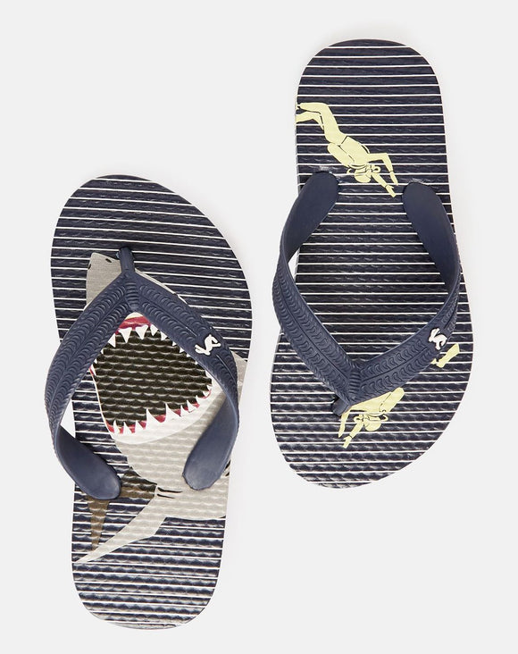 Stripe Shark Flip Flop