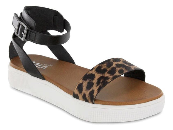 Little Ellen Black Leopard Sandal