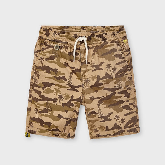 Khaki Camo Palm Tree Shorts