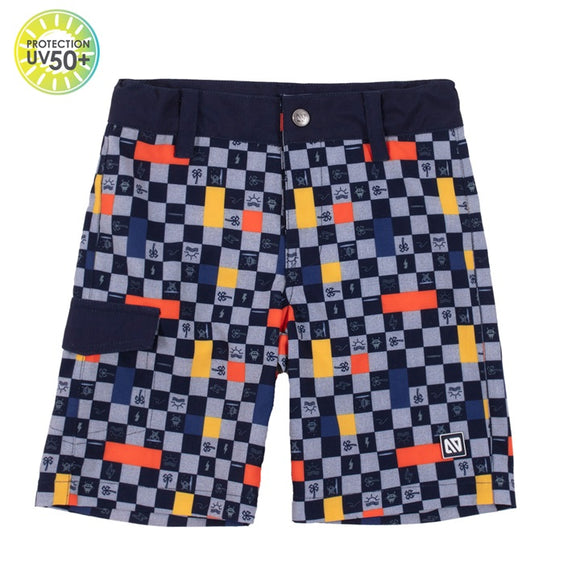 Checkered Beach Swim Trunks
