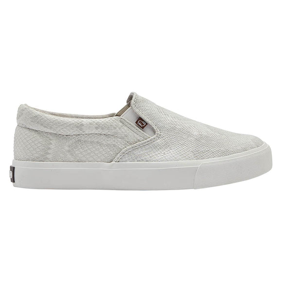 White Snake Piper Slip-On