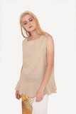Cristina Sleeveless Top - Beige