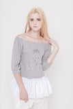 Magdalena Ruffle Top with Embroidery