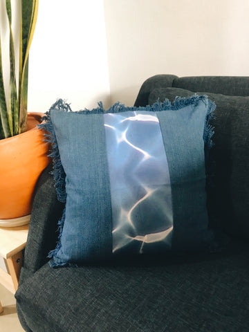 Swirl Denim Cushion