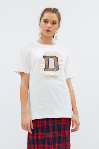 Duke Alphabet T-shirt White