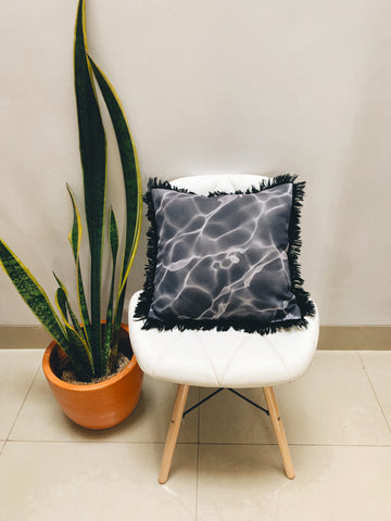Swirl Cushion Black