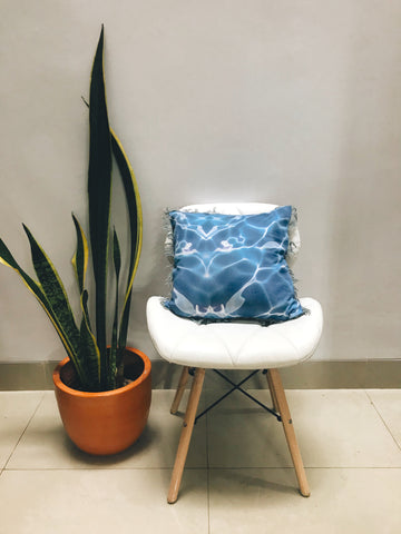 Swirl Cushion Blue