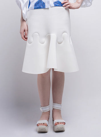 Wave Skirt (Broken White)