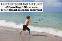 Load image into Gallery viewer, [4 Pack] Kid's Flying Rings and Adult Golf Discs - Fly Straight - Weighs 1.15 OZ Only, 80% Lighter - Floats On Water - Reduce Screen Time, Up Family Fun, Play Outdoors and Get Sunshine! Made in USA