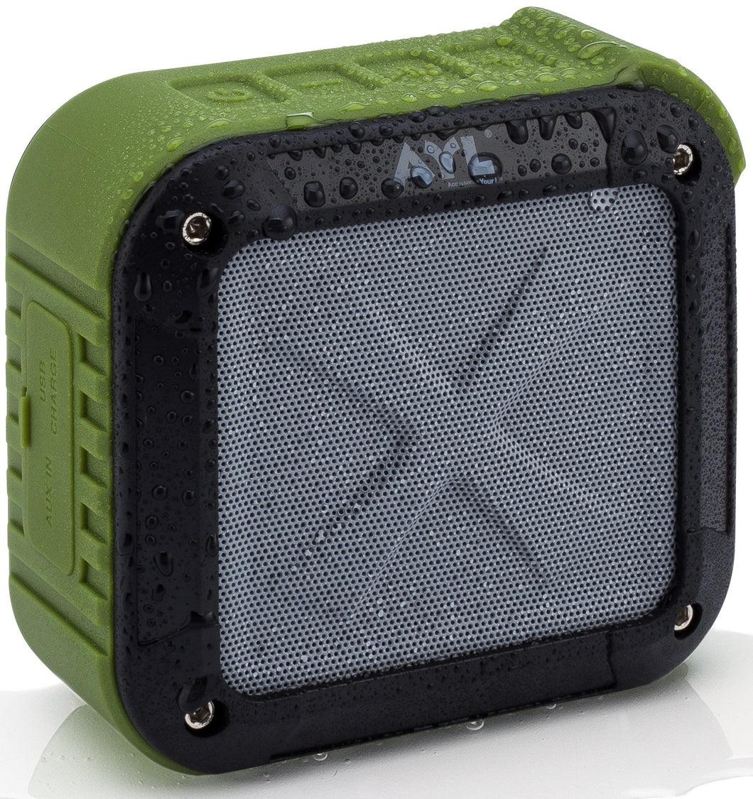 Portable Outdoor Waterproof Bluetooth Speaker- Wireless 10 Hour Rechargeable Battery Life, Powerful 5W Audio Driver, Pairs Easily to All Bluetooth Devices, Phones, Tablets, Computers, Soundfit (Green)