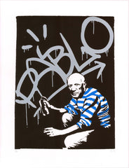 Sr.X artwork - Pablo Picasso - street art - Gunter Gallery