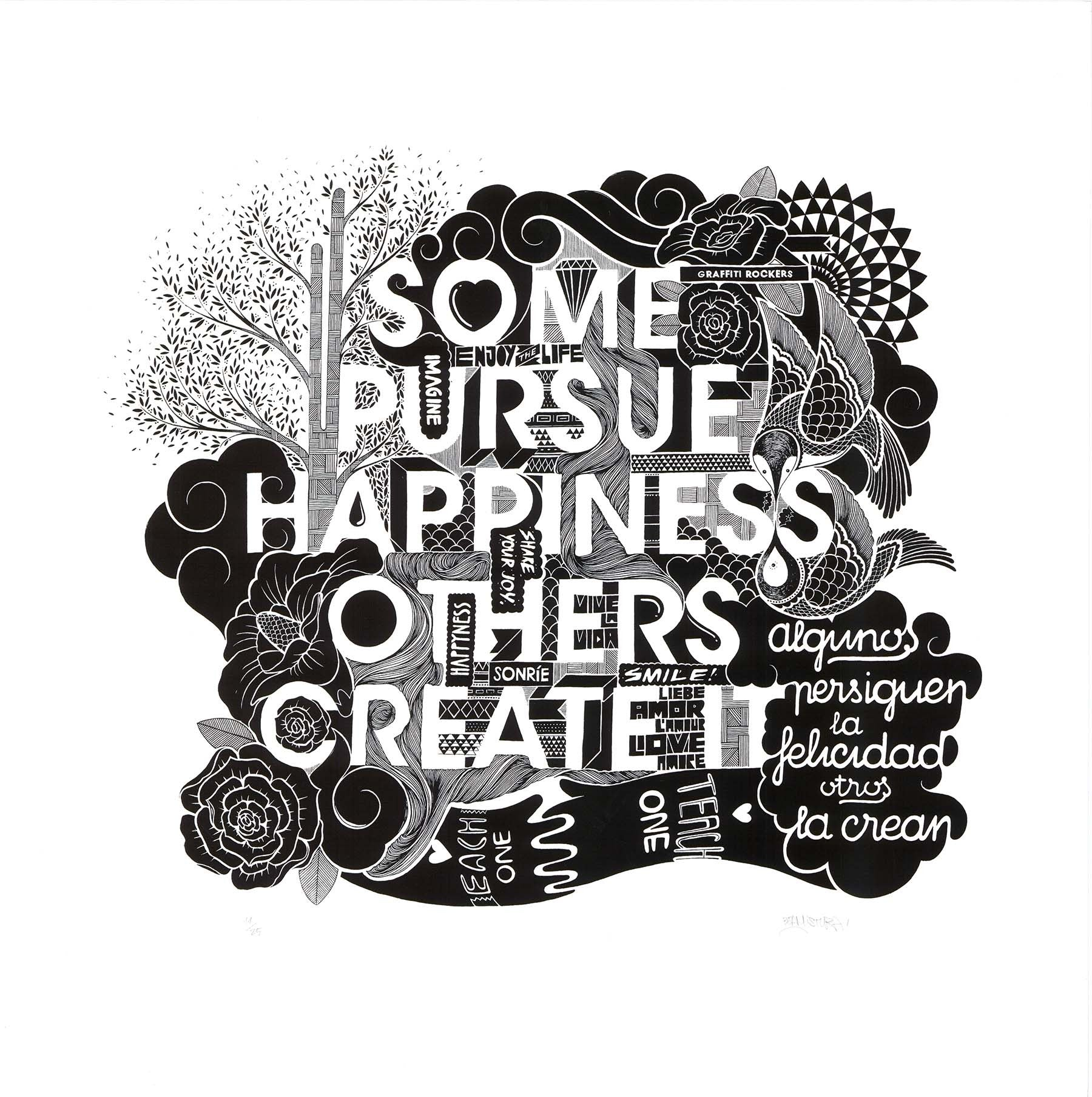 Boamistura  artwork- Some pursue happiness others create it - Gunter Gallery