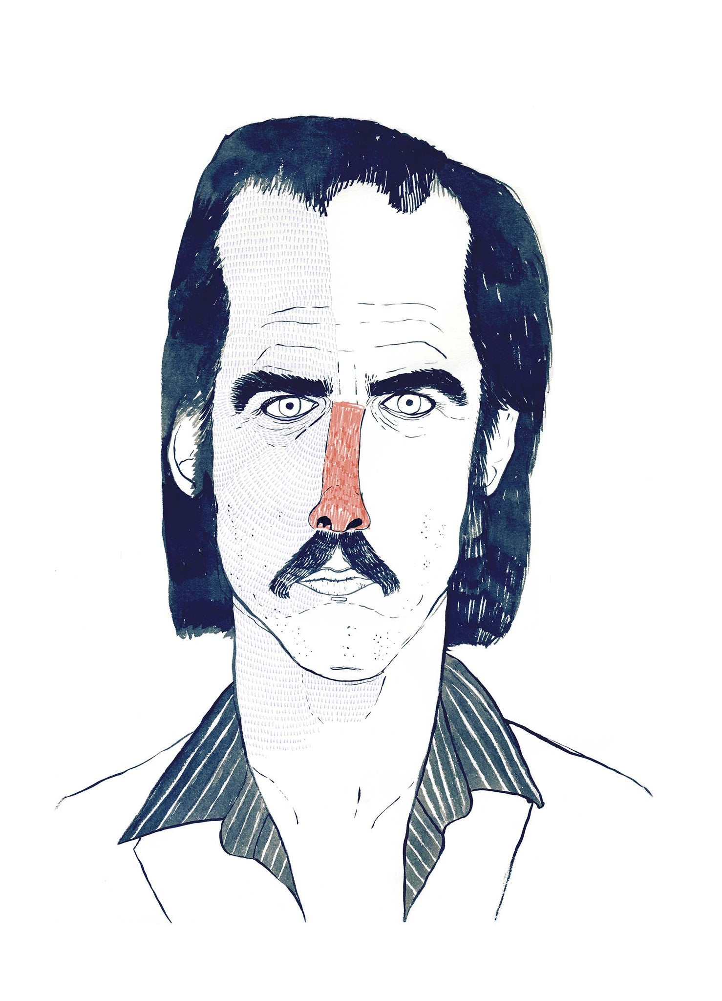 littleisdrawing Carla Fuentes artwork - Nick Cave - Gunter Gallery