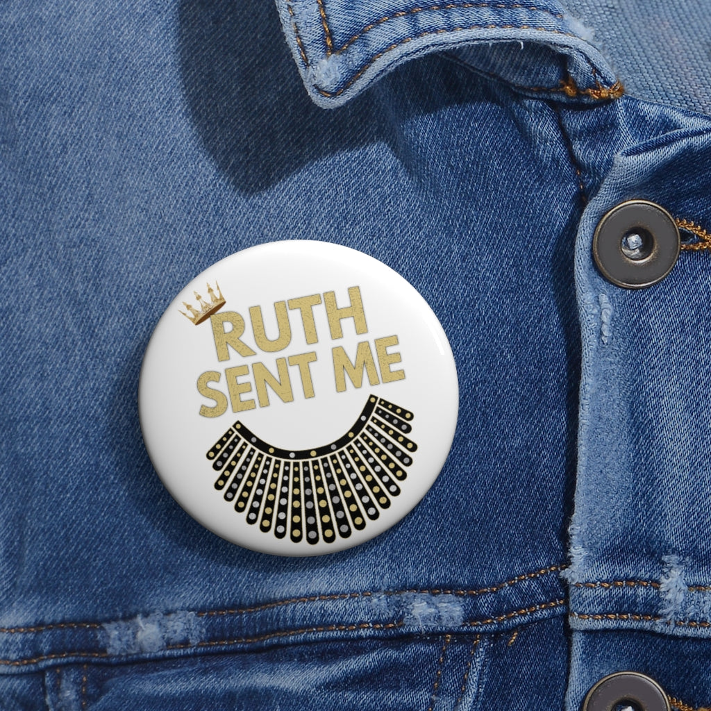 RUTH Sent Me Dissent Collar Pin - RBG Ruth Bader Ginsburg Custom Pin Buttons - RBG Vote Pins Voted Biden Harris Pins