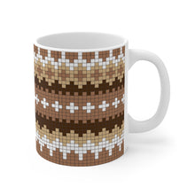 Load image into Gallery viewer, Bernie Sanders Mug Bernie Meme Mittens Mug - Bernie Coffee Mug - 11oz Coffee Mug - Funny Bernie Gift Brown Glove Mittens Pattern