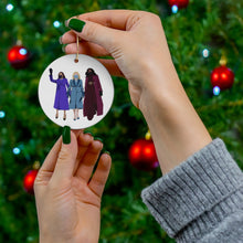 Load image into Gallery viewer, VP Kamala Harris Ornament Dr Jill Biden FLOTUS Ornament Michelle Obama Ornament Double Sided Ceramic Christmas Ornaments Girls Run the World