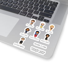 Load image into Gallery viewer, Influential Female Leaders Stickers - Kamala Harris Michelle Obama RBG Greta Thunberg Amelia Earhart Jane Goodall Malala Kiss-Cut Stickers