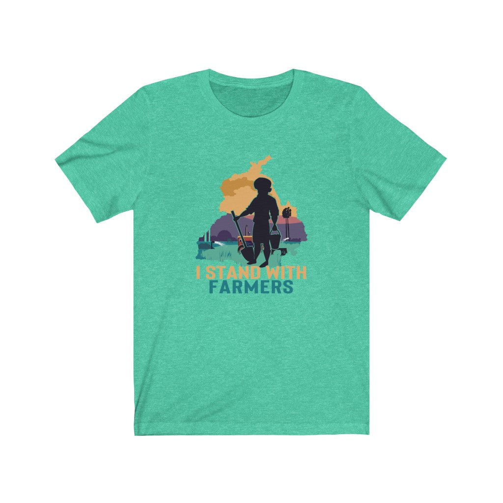 I Stand With Farmers Shirt - Punjab India Farmers - Support Farmers - No Farmers No Food Shirt - Punjab Shirt - Short-Sleeve Unisex T-Shirt