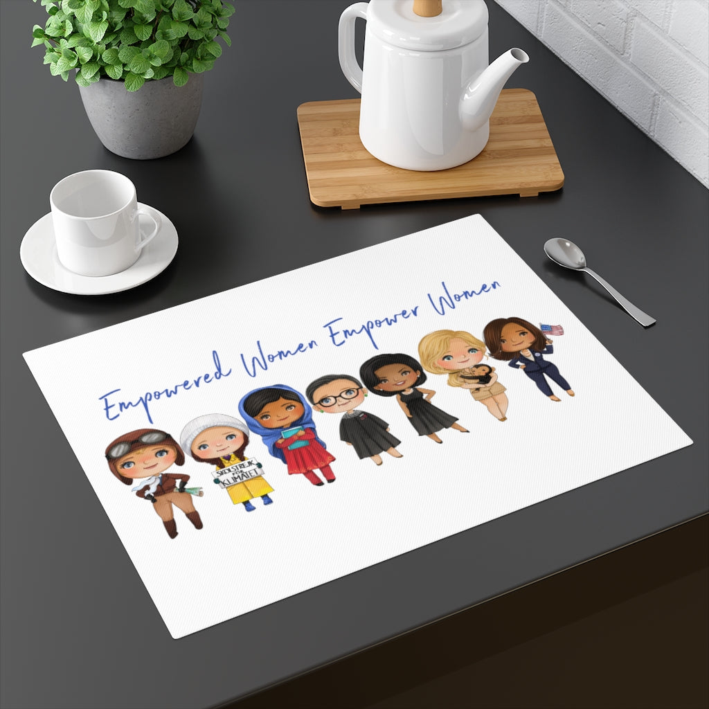 Empowered Women Empower Women - Influential Inspirational Female Leaders - Feminism Gift Placemat Kamala Harris RBG Kid's Table Placemat