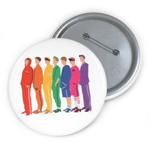 Load image into Gallery viewer, BTS Rainbow Pin - BTS Pin Minimal Art - BtS Pin Button - Army Namjoon Jin Yoongi Hobi Jimin Taehyung Jungkook Pin Souvenir Collection