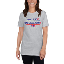 Load image into Gallery viewer, Uncle Joe and Kamala Auntie 2020 - Election 2020 Short-Sleeve Unisex T-Shirt