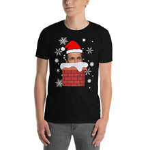 Load image into Gallery viewer, Cuomo Claus Coming Down the Chimney - Cuomo Shirt - Cuomo Watching You - Cuomo Christmas Tshirt Short-Sleeve Unisex T-Shirt - Funny Cuomo