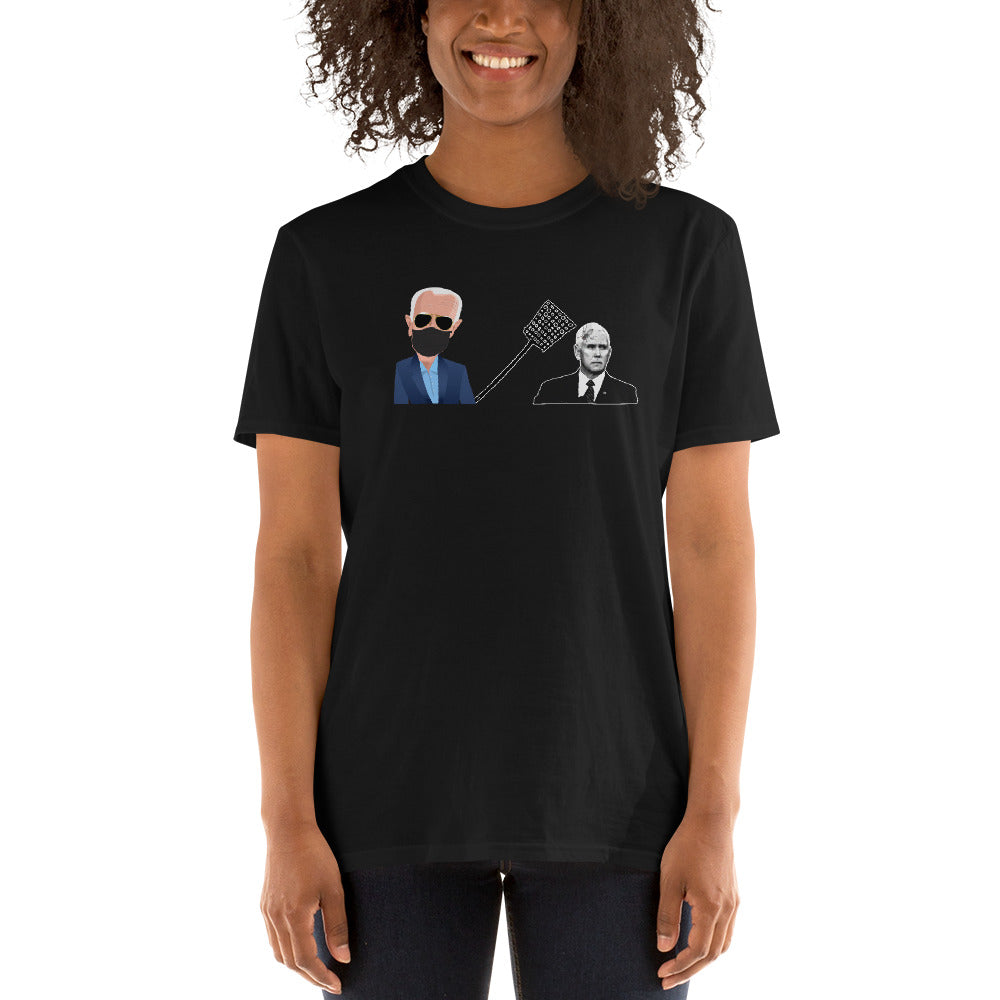 Biden Fly Swatting Fly on Mike Pence's Head Tshirt - Fly on Pence - Pence Fly Shirt - Vote Biden Harris - Kamala Speaking Unisex T-Shirt