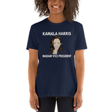 Load image into Gallery viewer, Kamala Harris MVP Madam Vice President Shirt - MVP Harris Tshirt - MVPHarris Shirt - First Female VP - Vice Momala Harris - Unisex T-Shirt