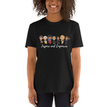 Load image into Gallery viewer, Inspire and Empower - Female Empowerment Tshirt - Role models VP Kamala, Michelle Obama, RBG, Greta, Goodall, Amelia Unisex T-Shirt
