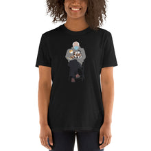 Load image into Gallery viewer, Bernie Sanders Wearing Mittens Holding Kittens Sitting Inauguration Biden Chair Shirt - Bernie Shirt - Bernie Mittens Cat Unisex T-Shirt