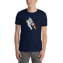 Load image into Gallery viewer, DOGE to the Moon Shirt - Doge Coin Rocket Shirt - Wallstreetbets WSB Shirt To the Moon - Let's go! - Buy and HODL Unisex Doge T-Shirt