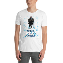 Load image into Gallery viewer, Bernie Sitting Chair Funny Shirt Meme - Bernie Baby It's Cold Outside - Christmas Bernie - Cold Bernie Meme - Bernie Mood Unisex T-Shirt