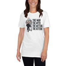 Load image into Gallery viewer, Bernie Sanders Sitting Chair Meme With Cats Man Myth Mittens Kittens - Bernie Inauguration Mittens Bernie Shirt Bernie Meme Shirt Unisex