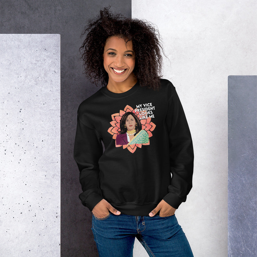 My Vice President Looks Like Sweatshirt - Kamala Harris Looks Like - Proud Kamala Aunty Unisex Sweatshirt - Kamala Aunty Aunty Gift Mom
