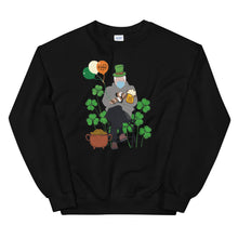 Load image into Gallery viewer, Funny St. Patrick's Day Shirt featuring Bernie Sanders Mittens Meme Shirt - Bernie Shirt - Bernie St Patrick's Day Irish Unisex Sweatshirt