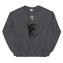 Load image into Gallery viewer, Bernie Sanders Sitting Meme Sweatshirt - Bernie Sitting Meme 2021 - Bernie being Bernie at Biden Inauguration 2021 - Meme Unisex Sweatshirt