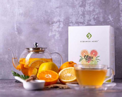 Best Assorted Tea Collection by Fernweh Agro | Citrus Teas in loose leaf & pyramid tea bags