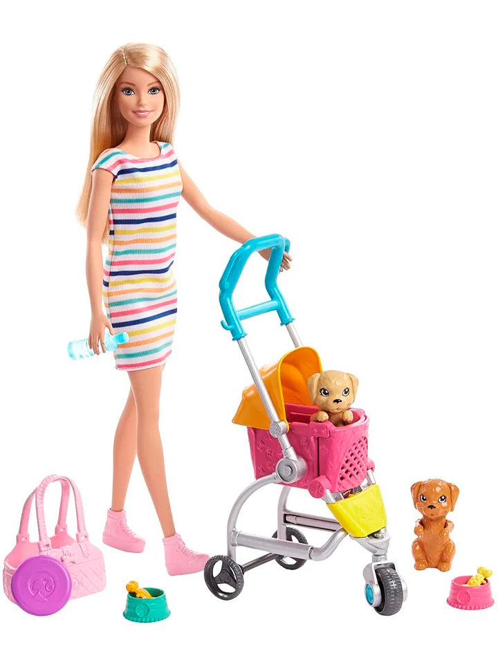 Set Barbie Paseo con Mascotas