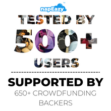 Load image into Gallery viewer, napEazy Ergonomic Pillow_tested by more than 500 beta testers and successful on Kickstarter