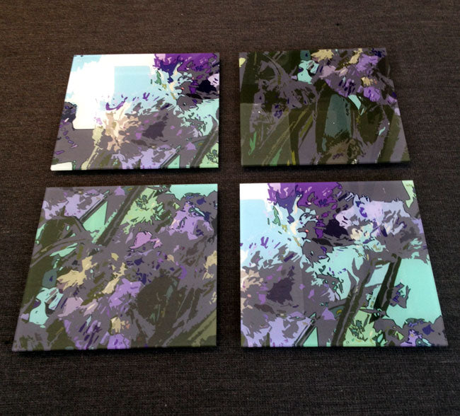 Deep Shades of Purple - set of 4