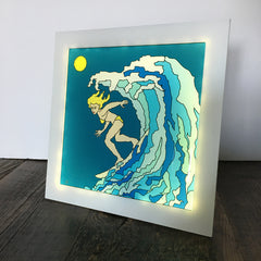 The Wave / The Surf Girl Lamp