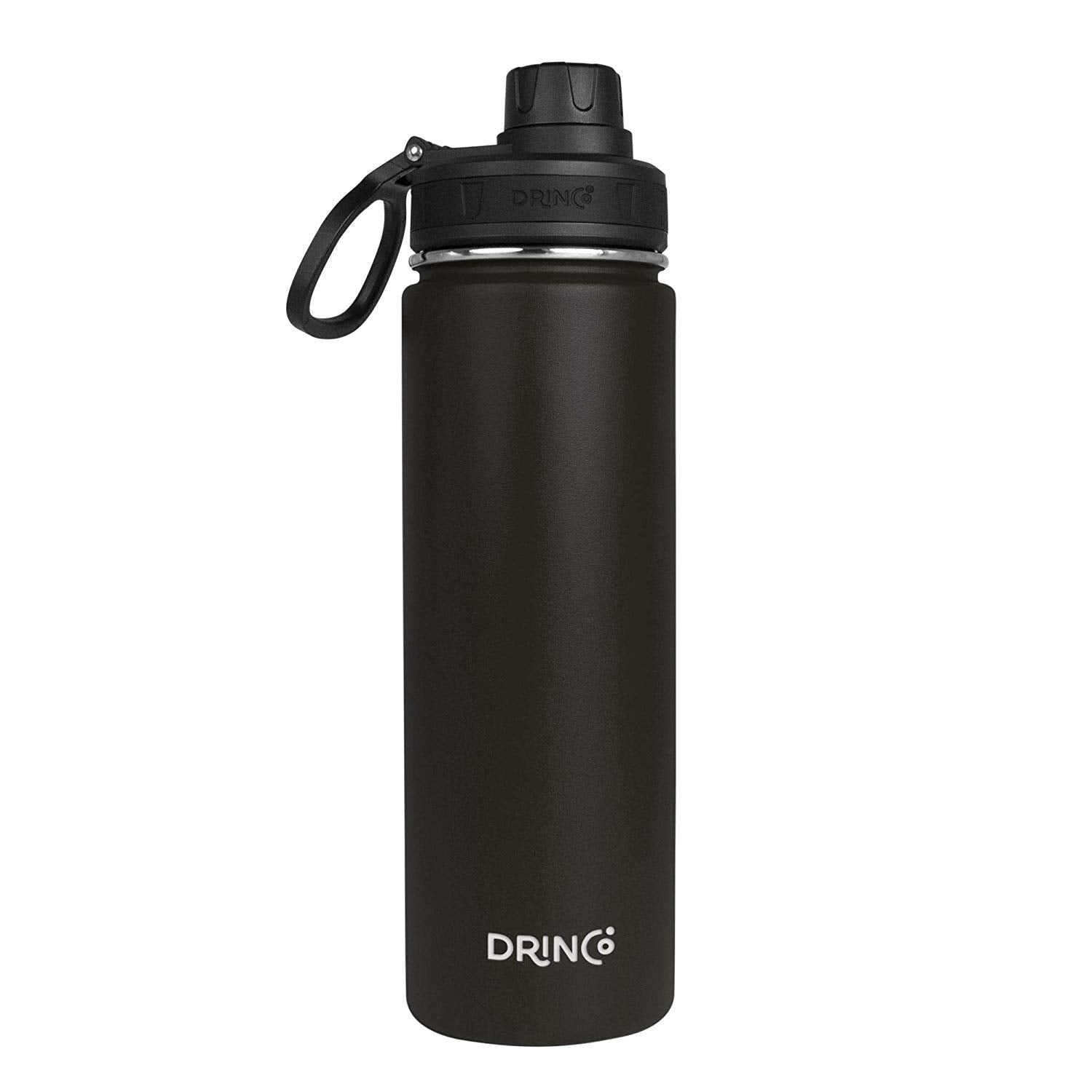DRINCO® 20oz Stainless Steel Sport Water Bottle - Black