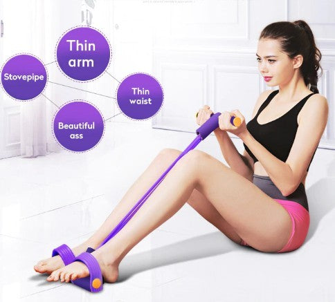 Portable Fitness Resistance Band with Pedal