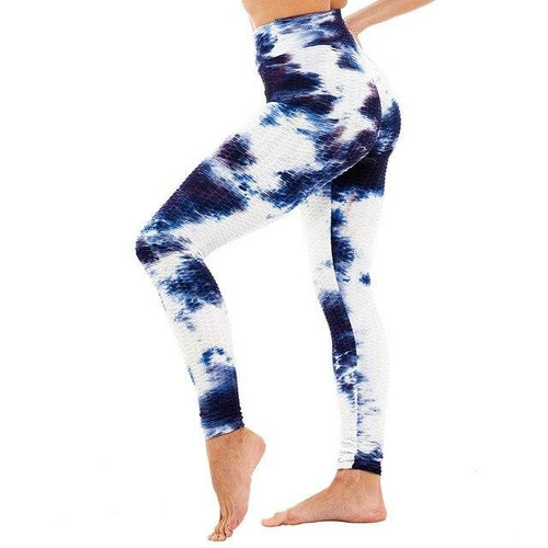 Yoga Pants Women Gym High Waist Push Up Yoga Pants Jacquard Fitness